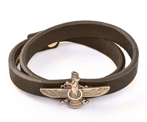 دستبند اسپرت طرح چرم فروهر