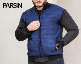 کاپشن مردانه مدل Parsin(آبی)