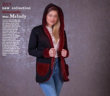 هودی دخترانه مدل Melody (زرشکی)