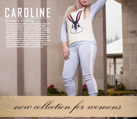 ست بلوز و شلوار دخترانه مدل Caroline (روشن)