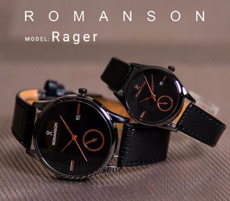 ست ساعت مچیRomanson مدل Rager (صفحه مشکی)