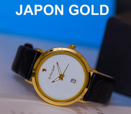 ساعت مچی مدلJAPON gold( صفحه سفید)