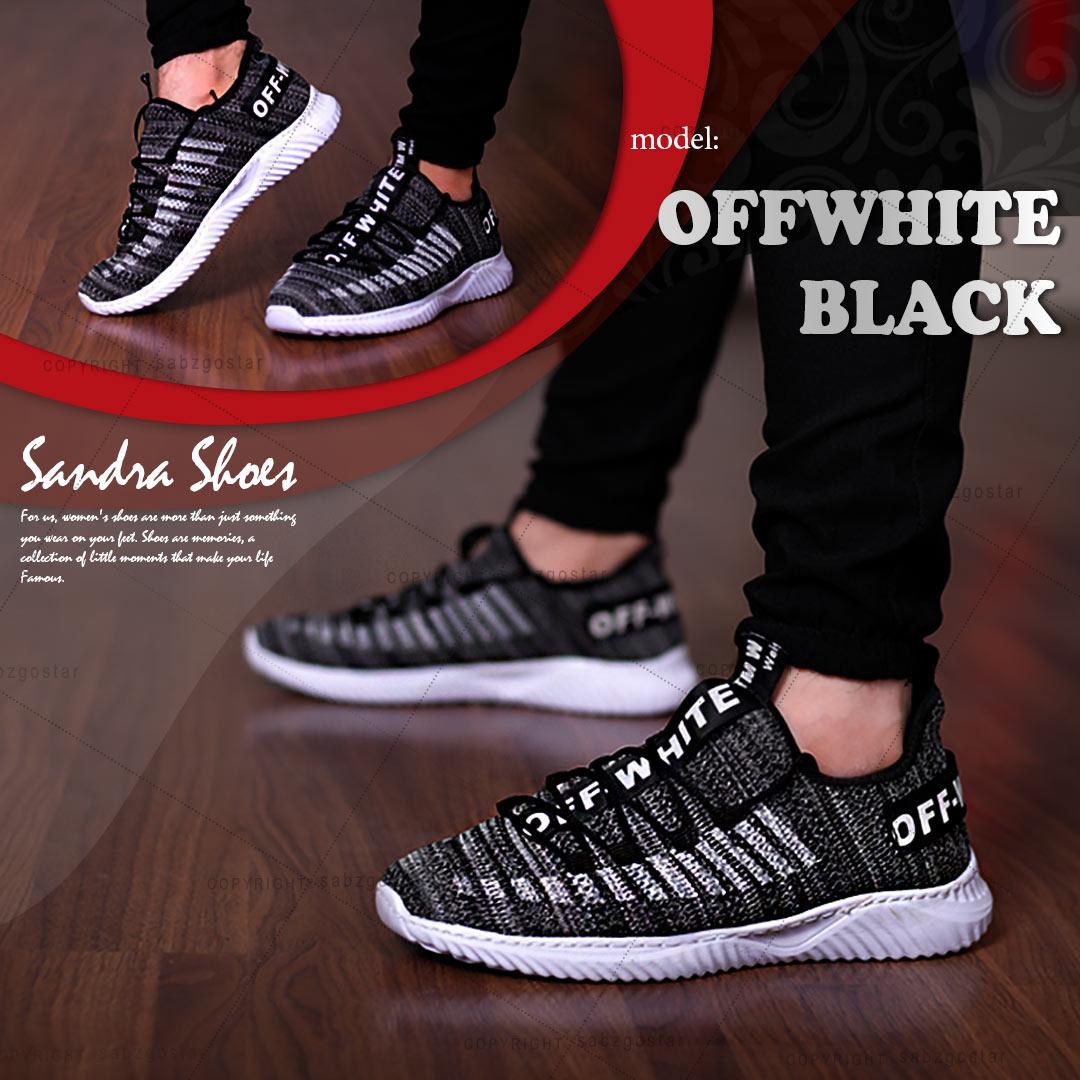 کفش مردانه مدل Offwhite_Black