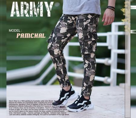 شلوار ارتشی مردانه (سبز . کرمی ) pamchal