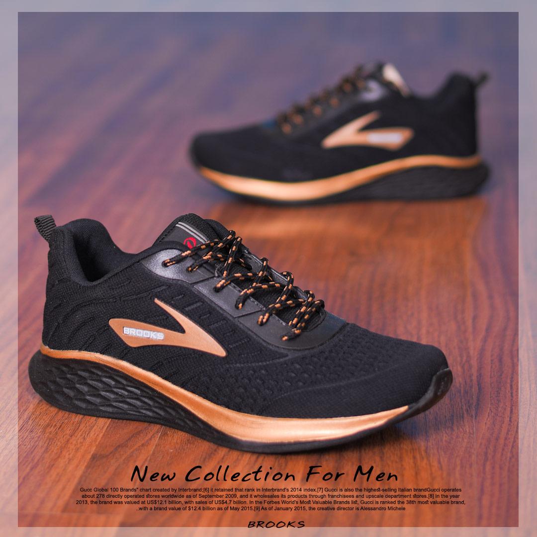 کفش مردانه Brooks مدل Soula (طلایی)