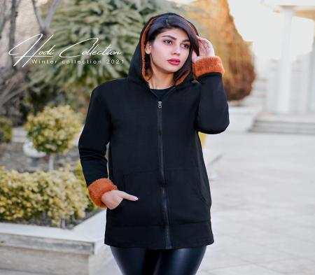 سویشرت زنانه کلاه خز Ariyan
