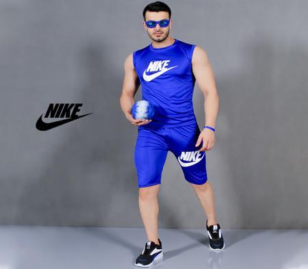 ست تاپ و شلوارک مردانه Nike مدل Royal (آبی)