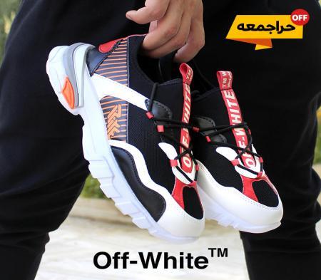 کفش مردانه off whiteمدل Tiho(مشکی قرمز)