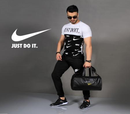 ست تیشرت و شلوار Nikeمدل Bizak(سفید)